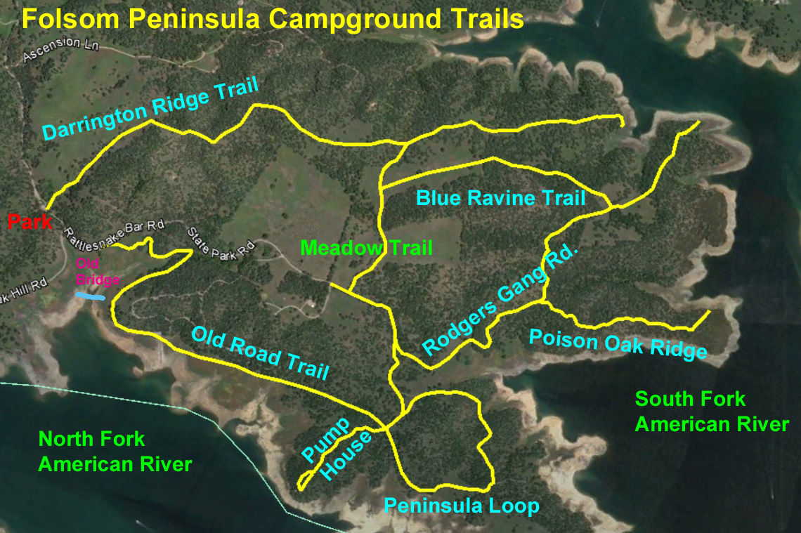 Easy Hiking On Folsom 39 S Peninsula Campground Trails