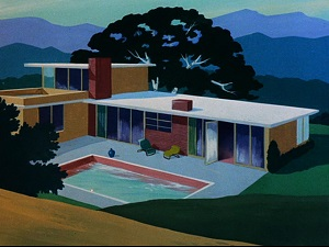 Was Giovanni Jones' house patterned after Frank Sinatra's Palm Springs home?