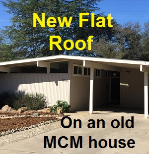 A New Flat Roof For An Old Mid Century Modern House
