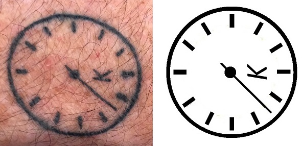 Seconds bit tattoo design watch parts