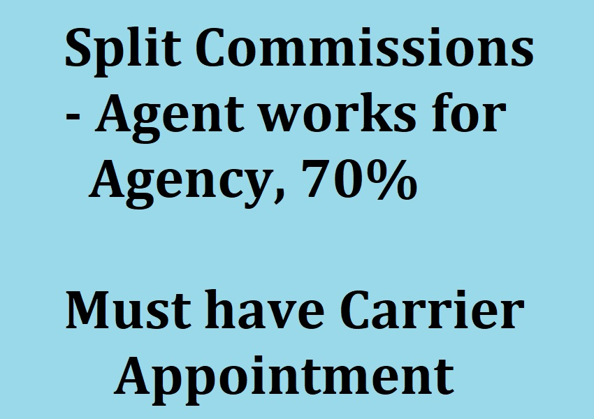 Agents who work for an agency may have to split their commissions.